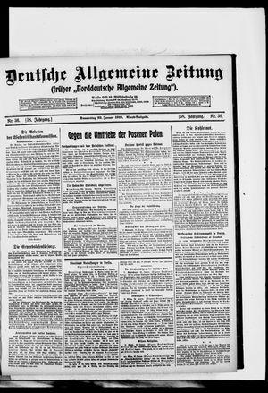 Deutsche allgemeine Zeitung vom 23.01.1919