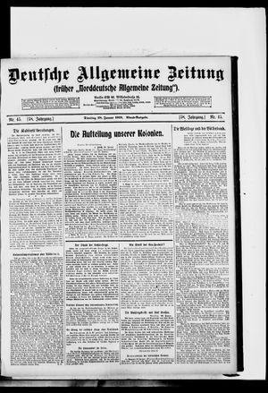 Deutsche allgemeine Zeitung vom 28.01.1919