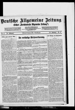 Deutsche allgemeine Zeitung vom 29.01.1919