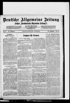Deutsche allgemeine Zeitung vom 30.01.1919