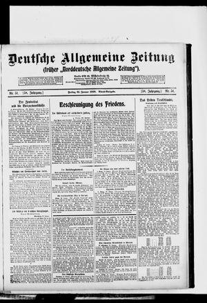 Deutsche allgemeine Zeitung vom 31.01.1919