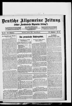 Deutsche allgemeine Zeitung vom 01.02.1919