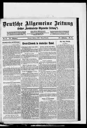 Deutsche allgemeine Zeitung vom 02.02.1919