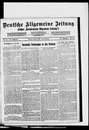 Deutsche allgemeine Zeitung vom 03.02.1919