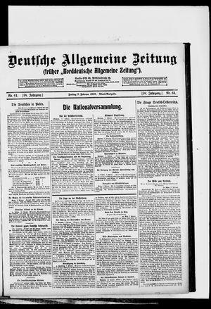 Deutsche allgemeine Zeitung vom 07.02.1919