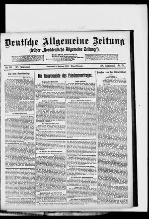 Deutsche allgemeine Zeitung vom 08.02.1919