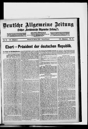 Deutsche allgemeine Zeitung vom 12.02.1919
