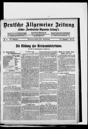 Deutsche allgemeine Zeitung vom 13.02.1919