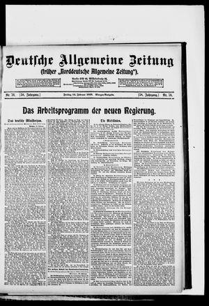 Deutsche allgemeine Zeitung vom 14.02.1919