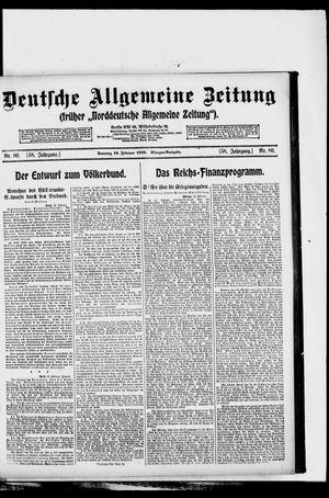 Deutsche allgemeine Zeitung vom 16.02.1919