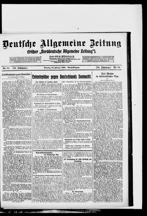 Deutsche allgemeine Zeitung vom 18.02.1919