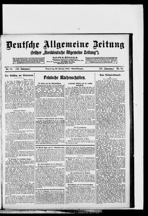 Deutsche allgemeine Zeitung vom 20.02.1919