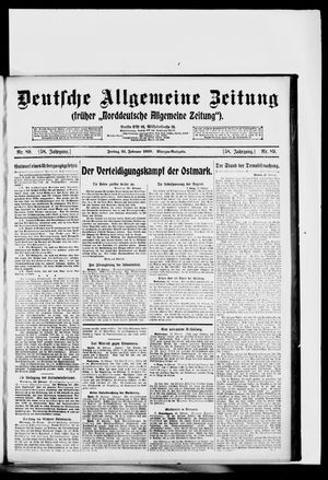 Deutsche allgemeine Zeitung vom 21.02.1919