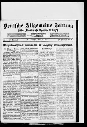 Deutsche allgemeine Zeitung vom 22.02.1919