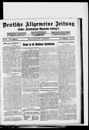 Deutsche allgemeine Zeitung vom 24.02.1919