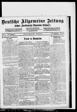 Deutsche allgemeine Zeitung vom 25.02.1919