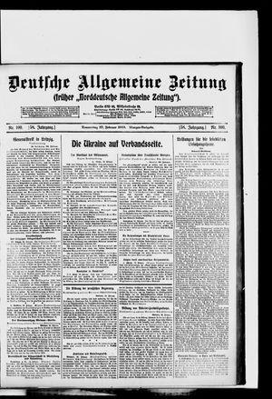 Deutsche allgemeine Zeitung vom 27.02.1919