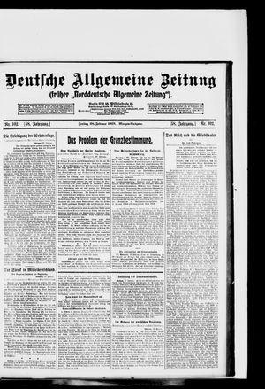 Deutsche allgemeine Zeitung vom 28.02.1919