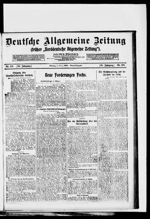Deutsche allgemeine Zeitung vom 03.03.1919