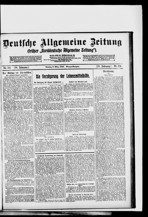 Deutsche allgemeine Zeitung vom 09.03.1919