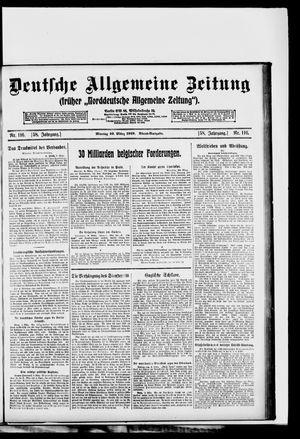Deutsche allgemeine Zeitung vom 10.03.1919