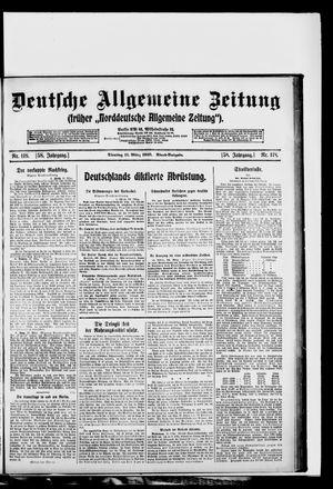 Deutsche allgemeine Zeitung vom 11.03.1919
