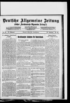 Deutsche allgemeine Zeitung vom 12.03.1919