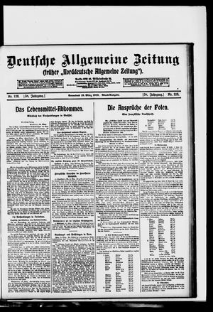 Deutsche allgemeine Zeitung on Mar 15, 1919