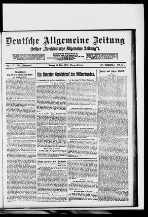 Deutsche allgemeine Zeitung vom 16.03.1919