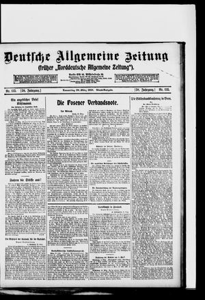 Deutsche allgemeine Zeitung vom 20.03.1919