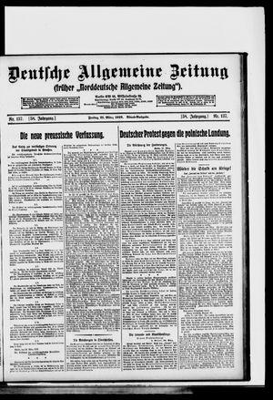 Deutsche allgemeine Zeitung vom 21.03.1919