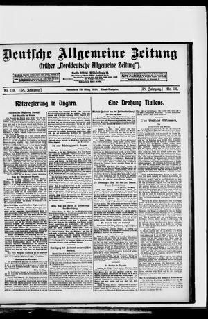 Deutsche allgemeine Zeitung vom 22.03.1919