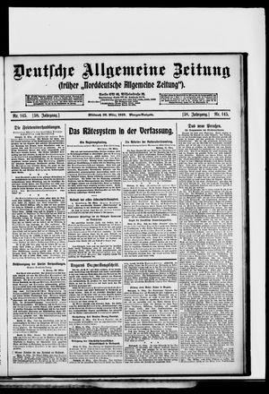 Deutsche allgemeine Zeitung vom 26.03.1919