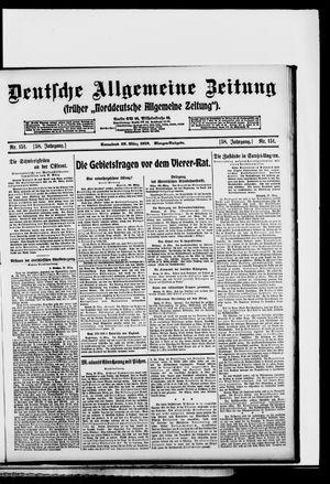 Deutsche allgemeine Zeitung vom 29.03.1919