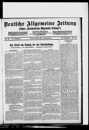 Deutsche allgemeine Zeitung vom 30.03.1919