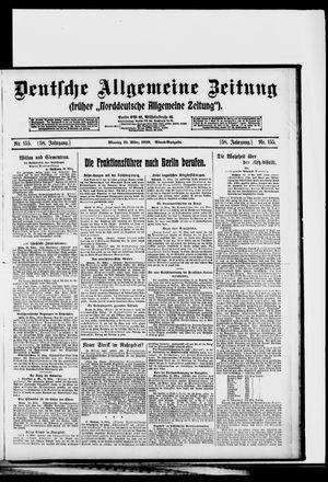 Deutsche allgemeine Zeitung vom 31.03.1919