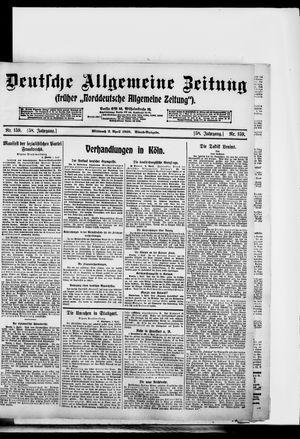 Deutsche allgemeine Zeitung on Apr 2, 1919