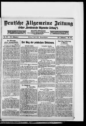 Deutsche allgemeine Zeitung vom 07.04.1919