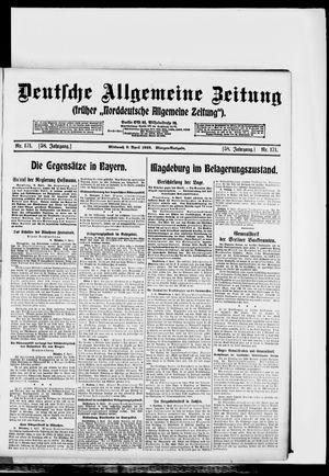 Deutsche allgemeine Zeitung vom 09.04.1919