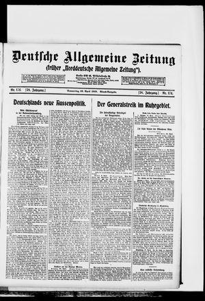 Deutsche allgemeine Zeitung vom 10.04.1919