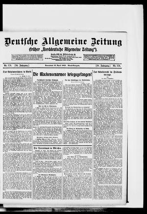Deutsche allgemeine Zeitung vom 12.04.1919