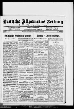 Deutsche allgemeine Zeitung vom 13.04.1919