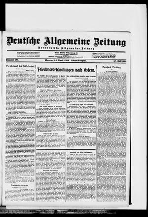 Deutsche allgemeine Zeitung vom 14.04.1919
