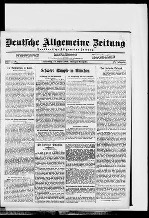 Deutsche allgemeine Zeitung vom 15.04.1919