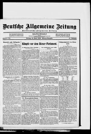 Deutsche allgemeine Zeitung vom 18.04.1919