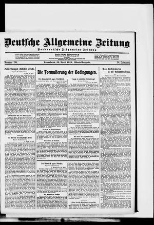 Deutsche allgemeine Zeitung on Apr 19, 1919