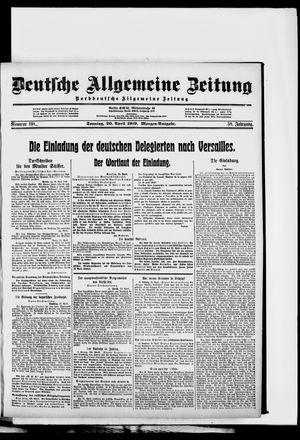 Deutsche allgemeine Zeitung vom 20.04.1919