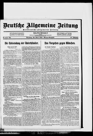 Deutsche allgemeine Zeitung vom 22.04.1919