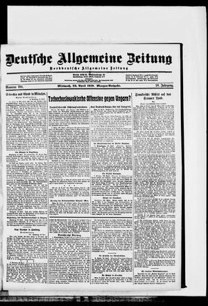 Deutsche allgemeine Zeitung vom 23.04.1919