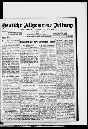 Deutsche allgemeine Zeitung vom 26.04.1919